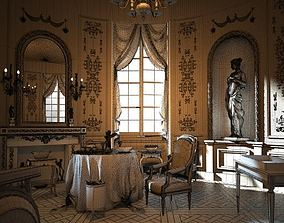 Royal Dining Room Scene 3D