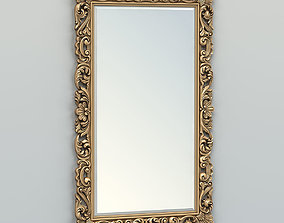 3D model Rectangle mirror frame 013 wall