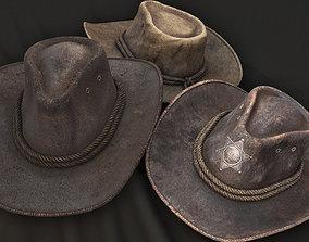 leather Cowboy hat 3D model low-poly