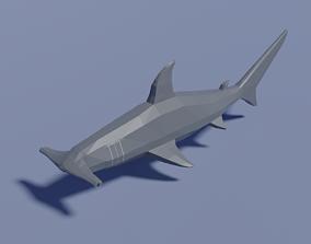 Cartoon Hammerhead Shark 3D asset
