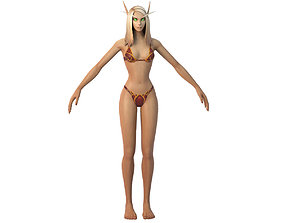 Bloodelf Female Full Rig and HumanIK 3D asset