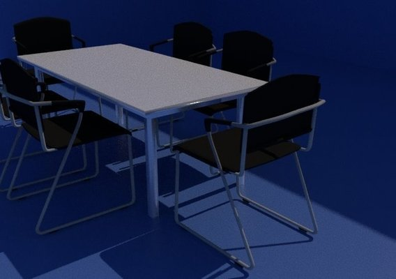 conference chairs and table