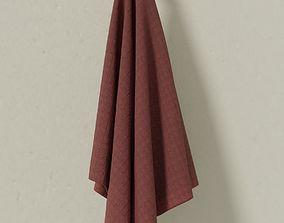 3D model Towel on the hook