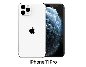3D Apple iPhone 11 Pro Silver