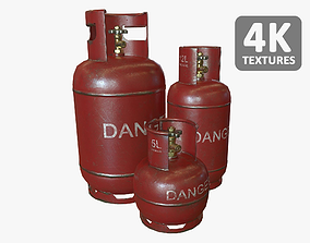3D model Gas Bottles Pack