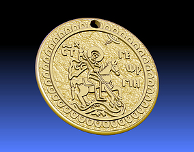 PENDANT ST GEORGE AND THE DRAGON 3D model