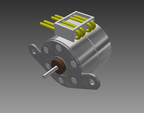 3D model PM20L-020 STEP STEPPER MOTOR