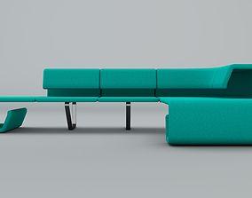 3D model Contemporary Sofa Custom Design