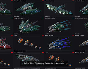Ankla Alien Spaceship Collection 3D model