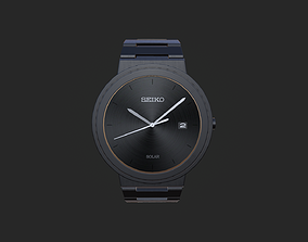PBR Seiko wrist watch design 3D model