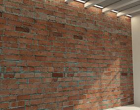 3D model Brick wall Old brick 81