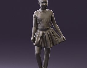 Young girl in white lips skirt 0753 3D Print Ready