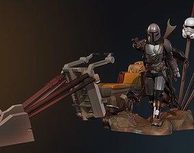 3D print model Mando from Star Wars saga Mandalorian