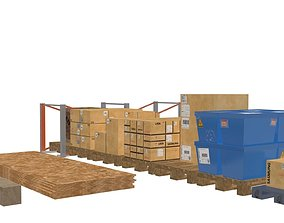 3D model game-ready Warehouse props
