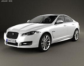 3D model Jaguar XF with HQ interior 2012