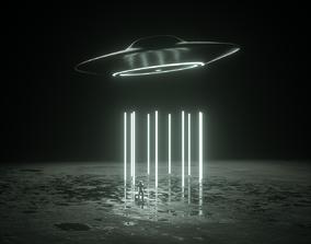 Ufo Scene Astronaut 3D model