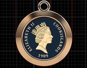 elizabethii 3D printable model Elizabeth II Pendant
