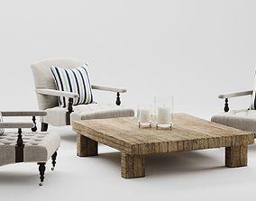 Ralph Lauren Oliver Chair Set 3D model