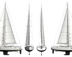 watercraft Sailing Yacht 3D model