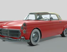 3D asset other 1950s generic car