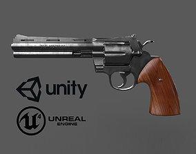 357 Magnum pistol 3D asset