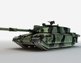 British MBT Challenger 2 3D model
