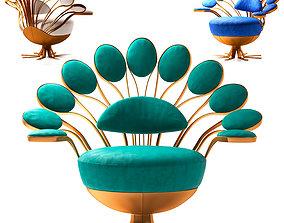 Visionnaire Pavone Smeraldo Armchair 3D