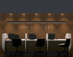 RECEPTION COUNTER 3D model office