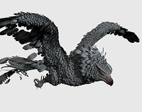 Phoenix Rigged and Animated 3D model