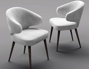 Chair Minotti Aston White 3D model