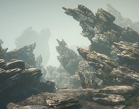 3D model Sliced rocks