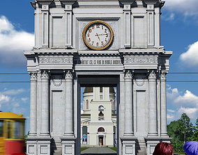 Old architectural Arch 3D