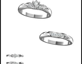 Cheap bridal set rings 3d jewelry files for sale