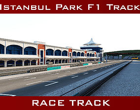 Istanbul Park Racing Circuit Track 3D asset low-poly