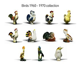 3D model Birds 1960 - 1970 collection