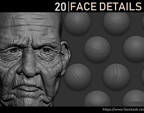 Zbrush - Face Details VDM Brush 3D