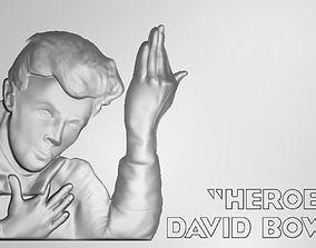 David Bowie 3D printable model