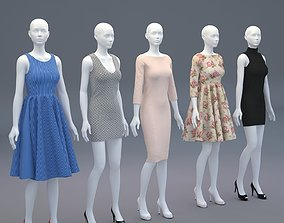 3D Mannequin Woman Cloth Model For Shop vol2