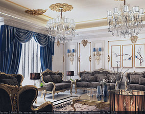 living room 3D printable model residential-space