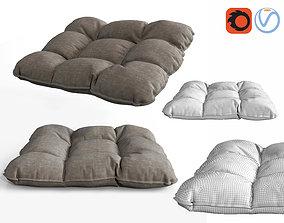3D 4 buttons soft pillow cushion chair pad