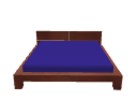 Bed cherry 3D model