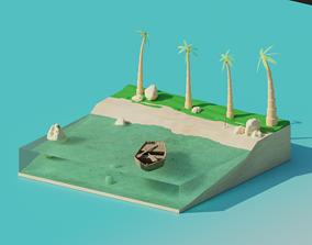 3D model rigged Island