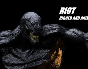 Riot Venom 2018 inspired model Rigged and 3D asset