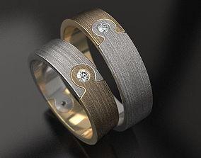3D print model Puzzle wedding rings - original