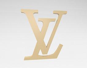 Louis Vuitton Logo v2 001 3D asset