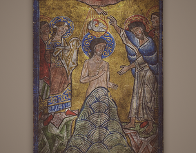 3D model Baptism of Christ Painting