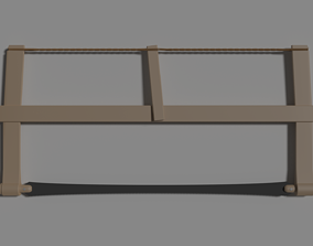 Old type of saw 3D model