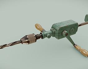 3D asset Vintage Peugeot Handdrill