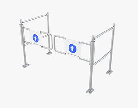 Supermarket Dual Mechanical with Barrier Swing 3D model