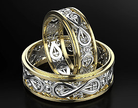 3D print model Wedding rings with the symbol of infinity 2